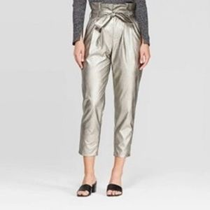 NWT Who What Wear High Rise Paperbag Crop Pants